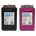 Cartridge HP 60 Black and Color komplit Dus